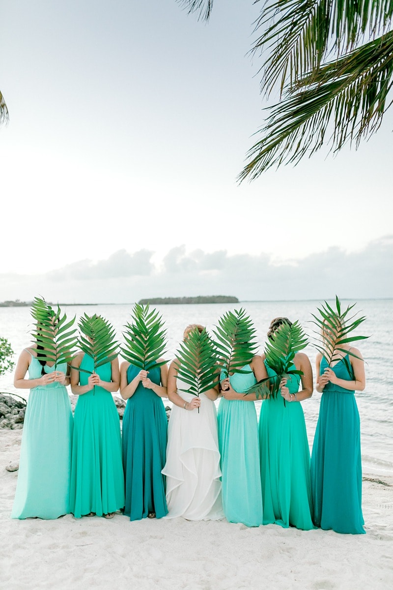 beach wedding bridesmaid dress mix and match