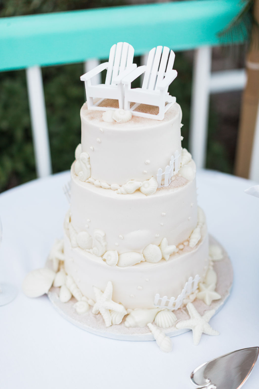 Beach wedding cake Image obtained via Flickr CC