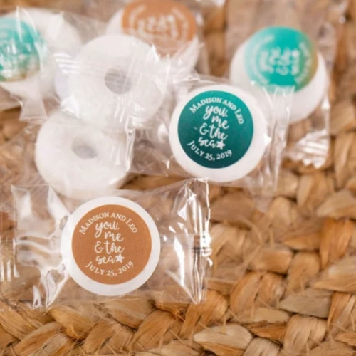 beach wedding candy life savers 1