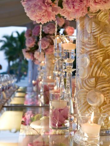 beach wedding centerpieces pink1