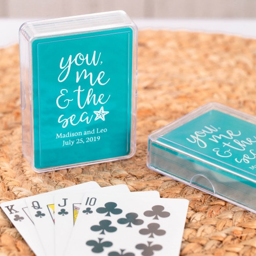 beach wedding custom playing cards 1