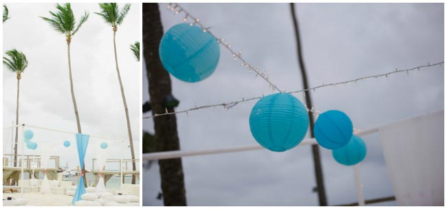 beach wedding paper lantern