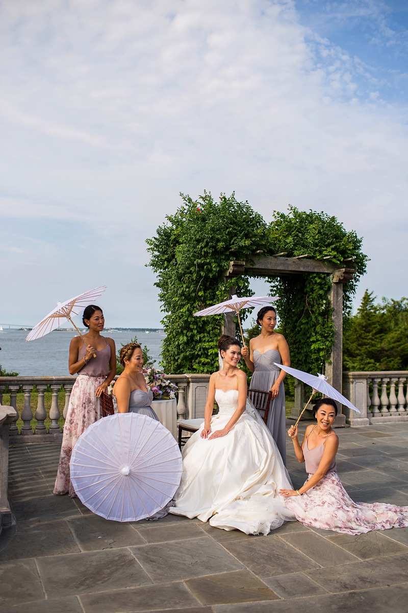 beach wedding parasols