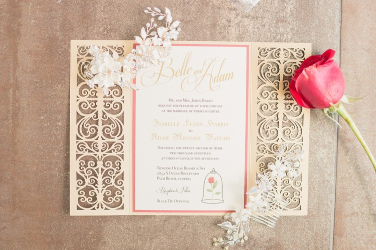 Beauty And The Beast Wedding Invitations Southernsoulblog Com