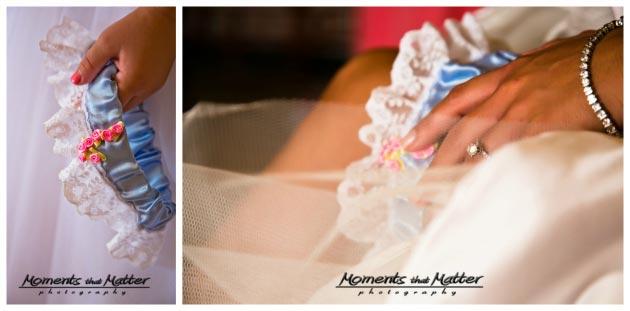 blue wedding garter