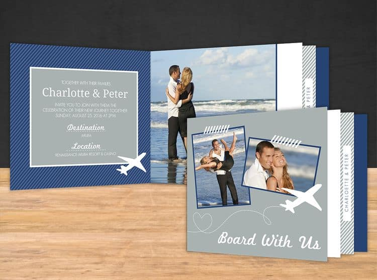 Booklet destination wedding invitations