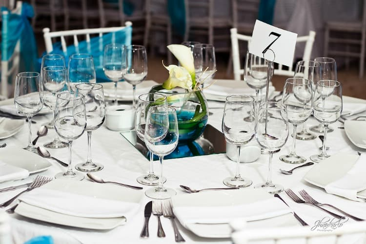 calla lily beach wedding centerpiece
