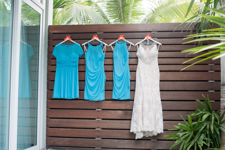 colorful beach wedding in the bahamas 157