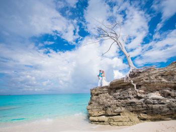 Colorful Beach Wedding in The Bahamas & Gallant Lady Shipwreck Trash the Dress