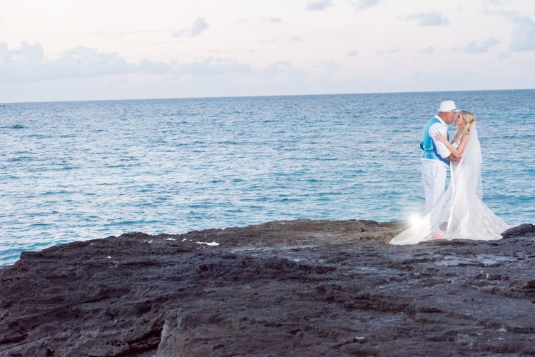 colorful beach wedding in the bahamas 75