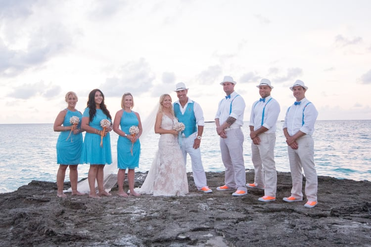 colorful beach wedding in the bahamas 79