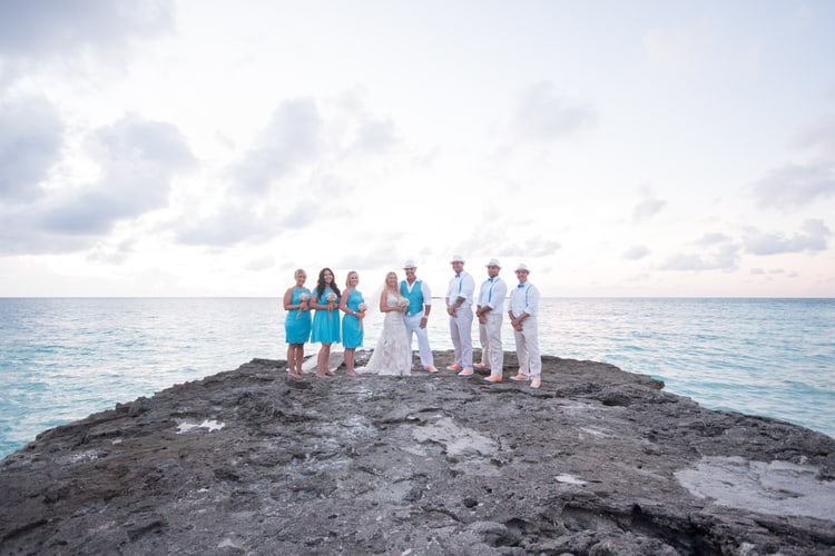 colorful beach wedding in the bahamas 80
