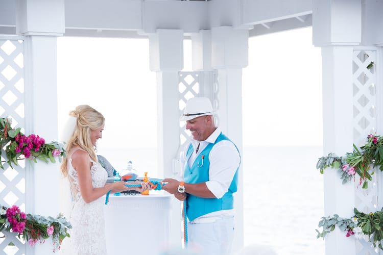 colorful beach wedding in the bahamas 86