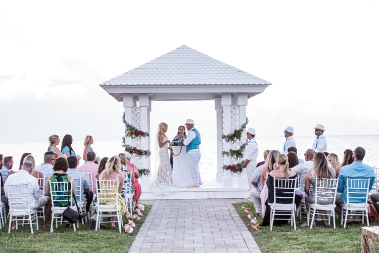 colorful beach wedding in the bahamas 87