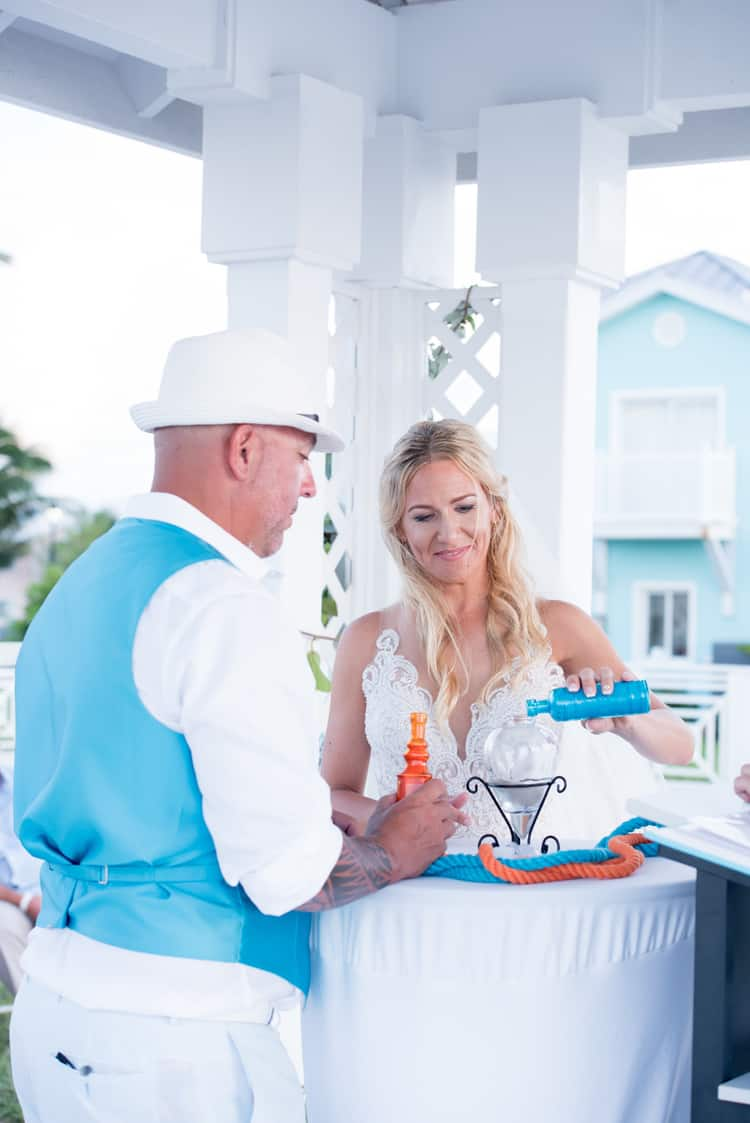 colorful beach wedding in the bahamas 90
