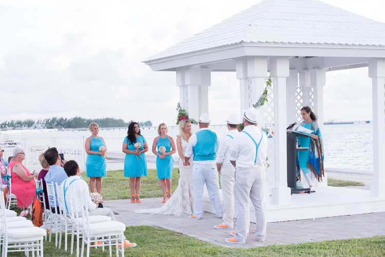 colorful beach wedding in the bahamas 92