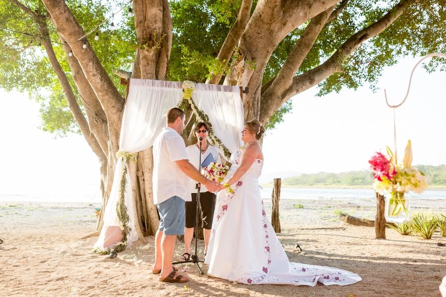 costa rica beach weddings in tamarindo
