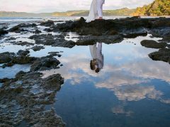 couple on Costa Rican Beach reflection 1 240x180