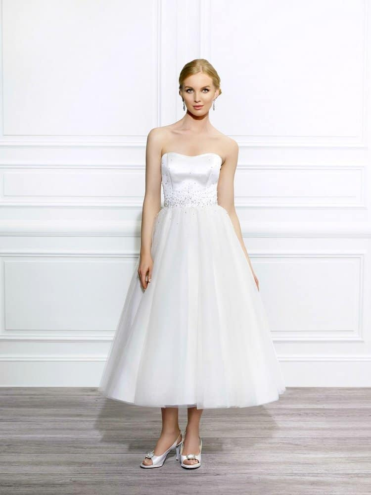 tea length short wedding dress