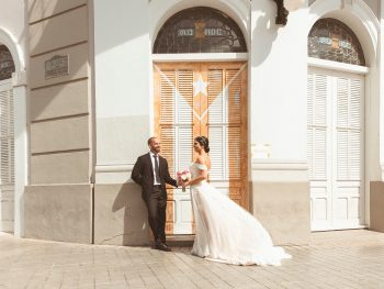 A Destination Wedding in Ponce Puerto Rico with Beautiful Geometric Details