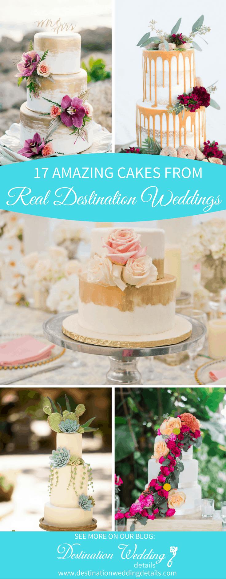 destination wedding cake designs