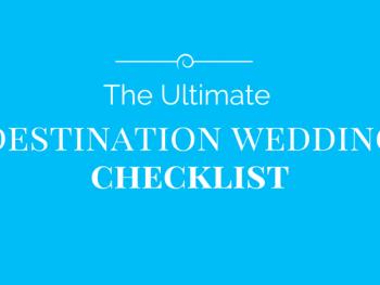 The Best Destination Wedding Checklist