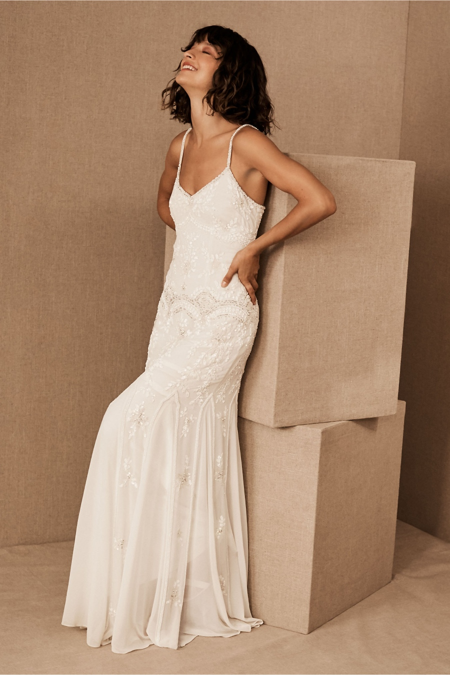 destination wedding dress with beading