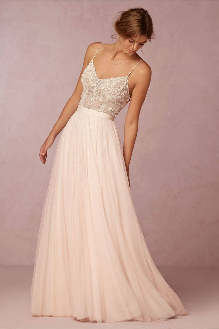 destination wedding dresses ella bodysuit and amora skirt
