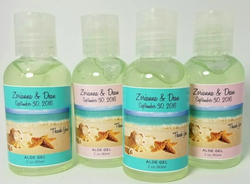 destination wedding favor aloe vera gel