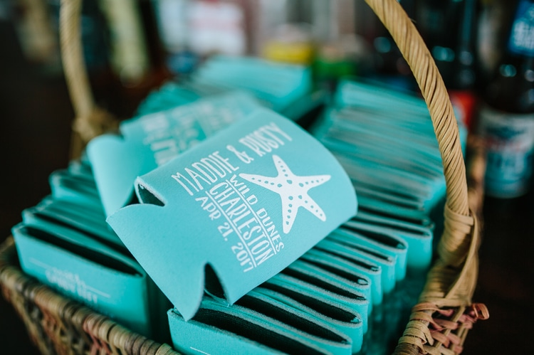 destination wedding favors koozies
