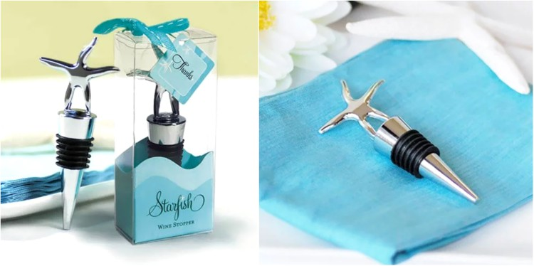 destination wedding favors wine stopper