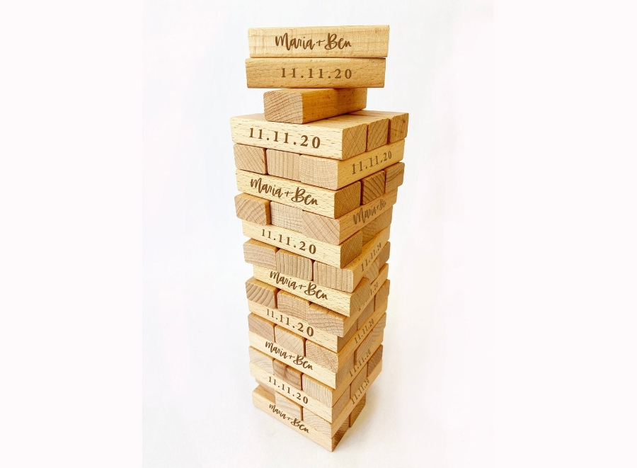 destination wedding guest book alternative ideas jenga