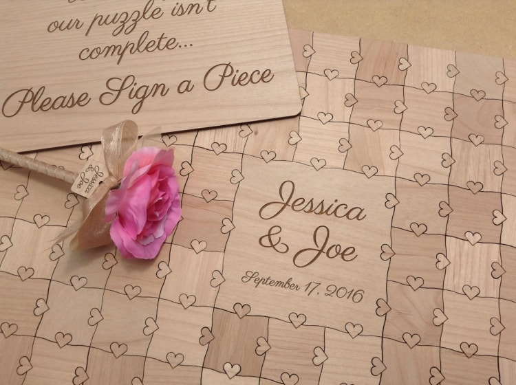 destination wedding guest book alternative puzzle