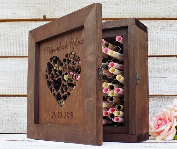 destination wedding guest book alternative shadow box