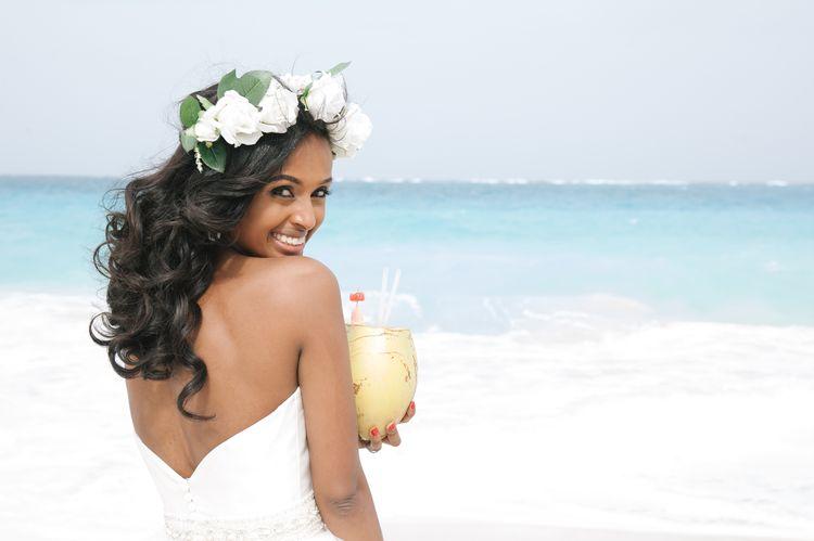 destination wedding hair