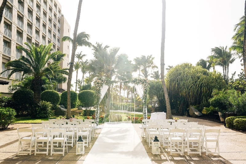 destination wedding hyatt regency aruba ceremony