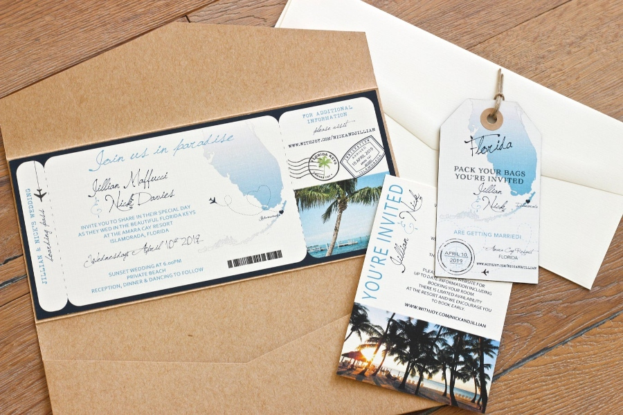 destination wedding ideas invitation