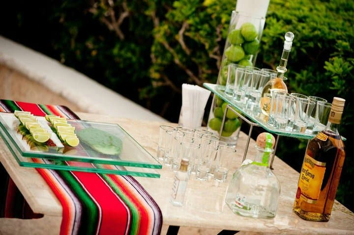 destination wedding ideas tequilla tasting bar