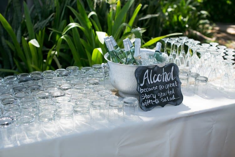 alcohol wedding sign