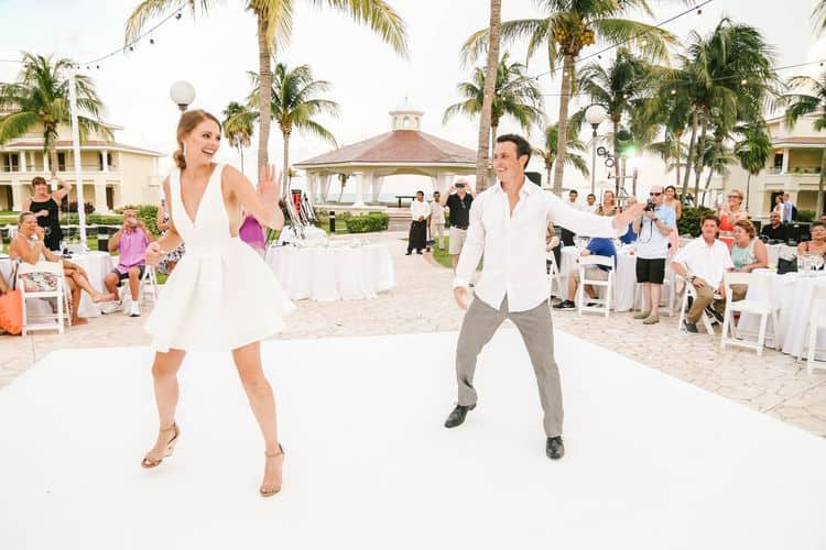 Fun choreographed wedding dance