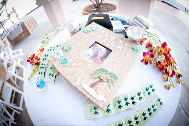 Bahamas destination wedding guest book