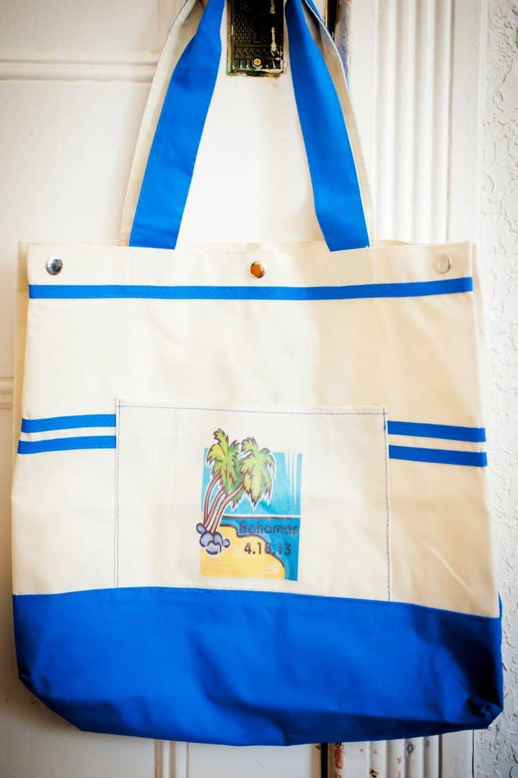 bahamas wedding welcome bag