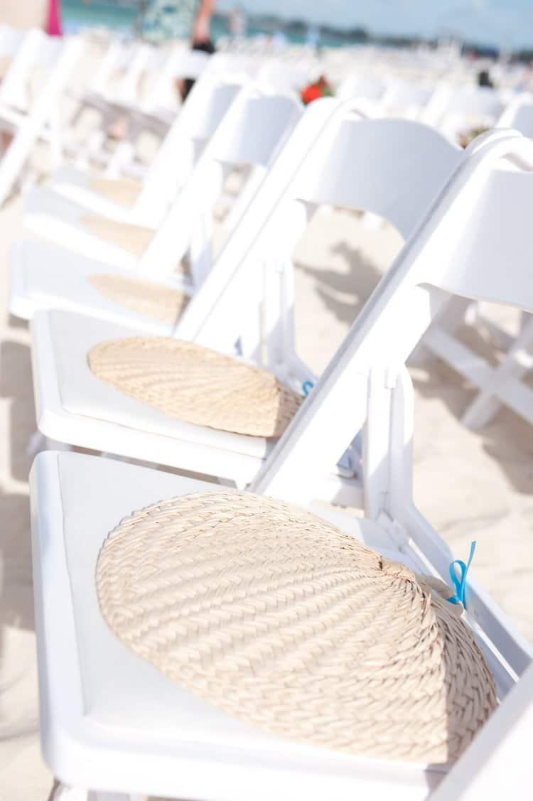 Beach wedding fan programs