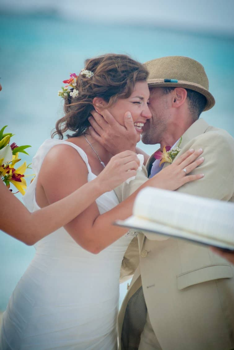 beach wedding in the Bahamas
