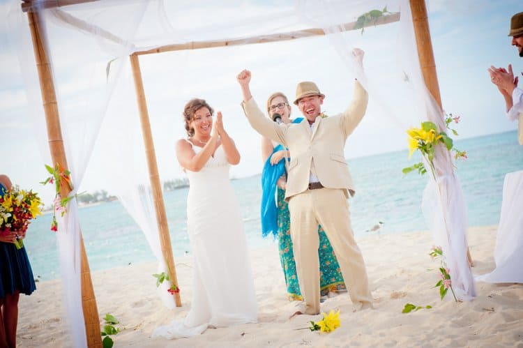 beach wedding in Nassau, Bahamas