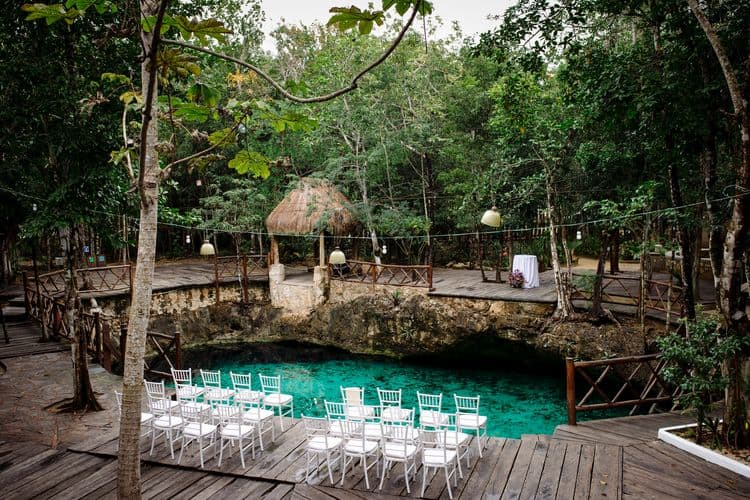 destination wedding in tulum cenote 4
