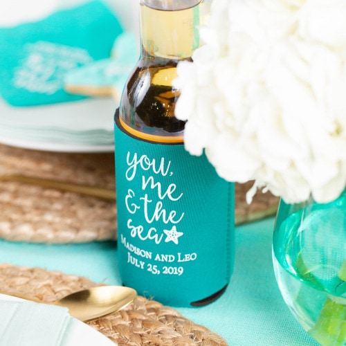 destination wedding koozies 1