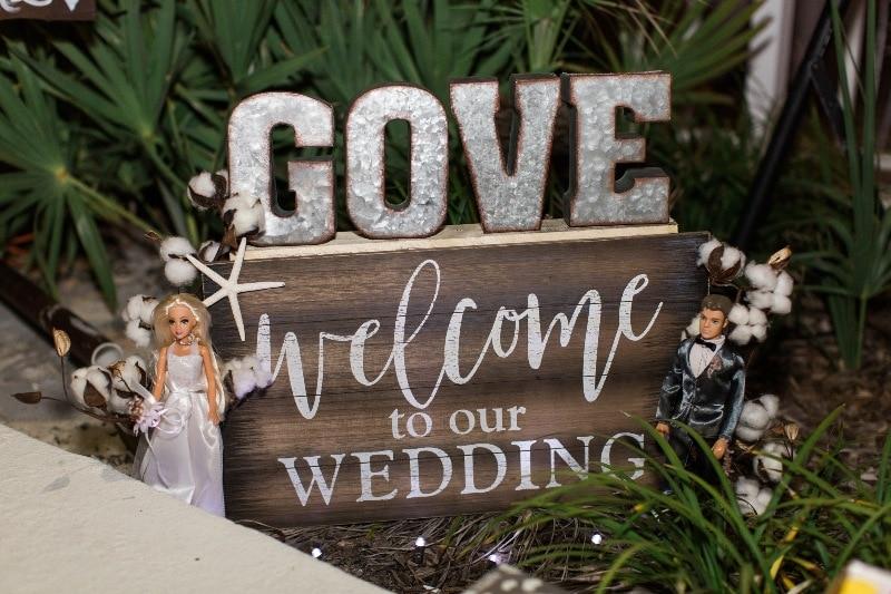 destination wedding miramar beach sign