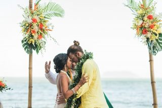 Intimate Destination Wedding on a Private Oahu Beach
