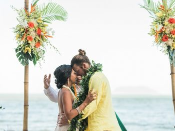 Intimate Destination Wedding on a Private Oahu Beach